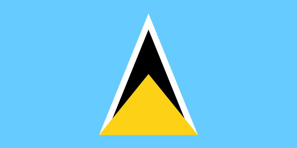 Flaga kraju SAINT LUCIA [PNG]