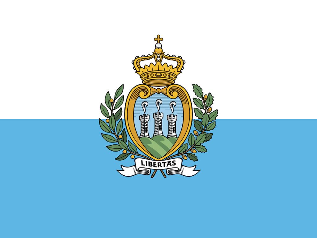 Flaga kraju SAN MARINO [PNG]