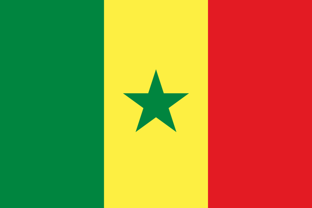 Flaga kraju SENEGAL [PNG]
