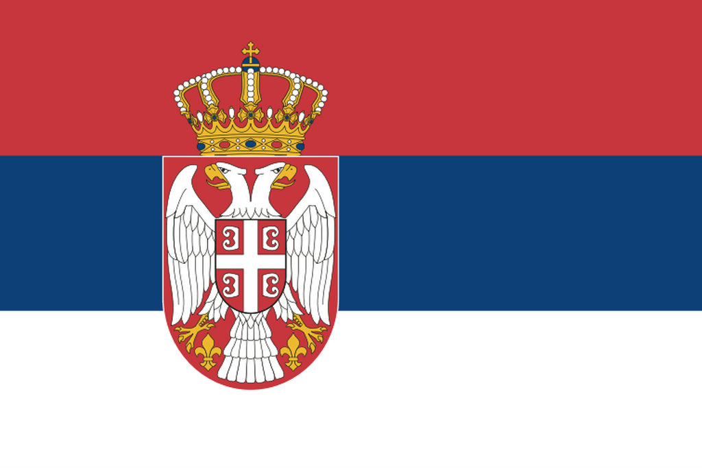 Flaga kraju SERBIA [PNG]