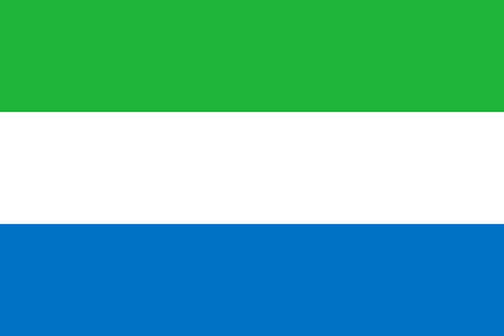 Flaga kraju SIERRA LEONE [PNG]