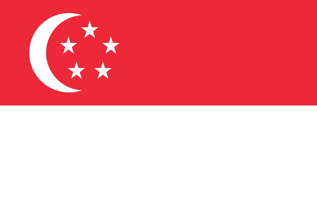 Flaga kraju SINGAPUR [PNG]