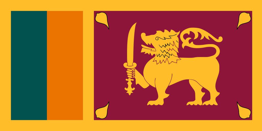 Flaga kraju SRI LANKA [PNG]