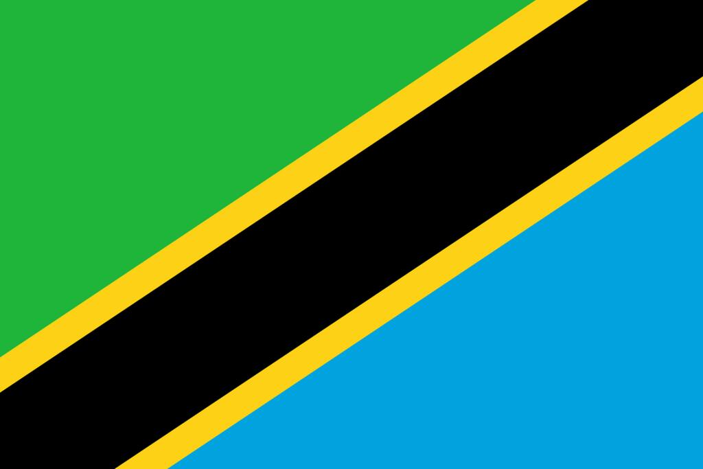 Flaga kraju TANZANIA [PNG]