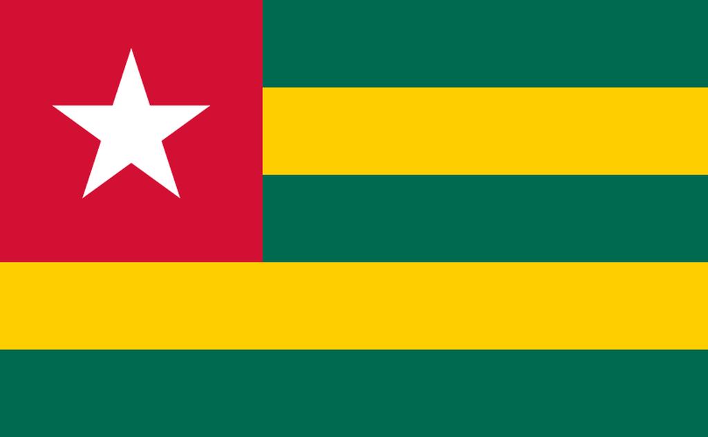 Flaga kraju TOGO [PNG]