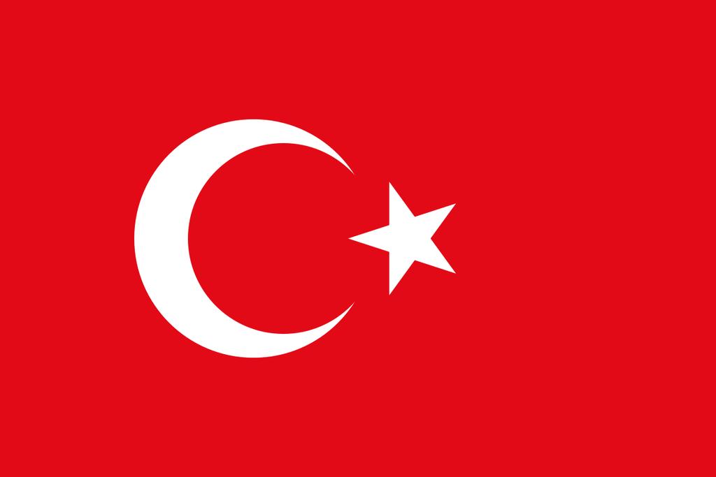 Flaga kraju TURCJA [PNG]