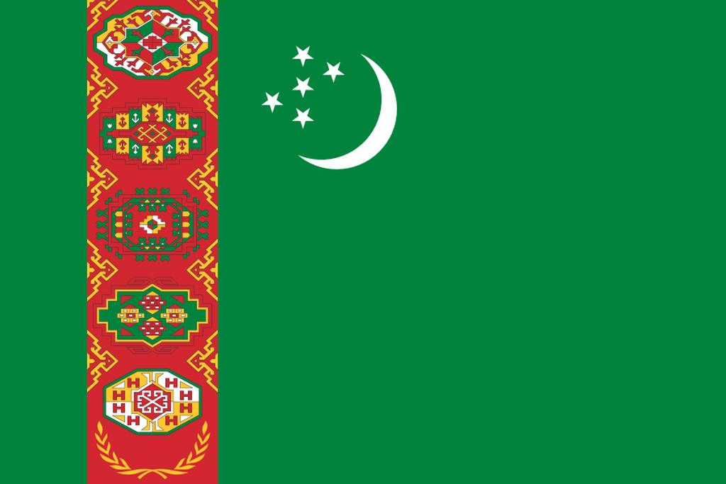 Flaga kraju TURKMENISTAN [PNG]