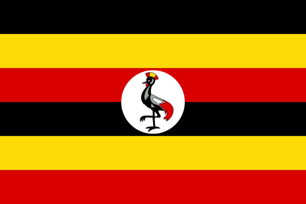 Flaga kraju UGANDA [PNG]