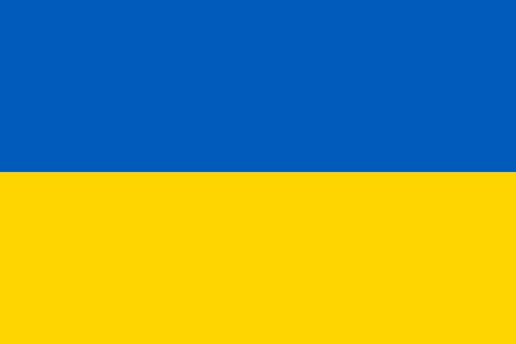 Flaga kraju UKRAINA [PNG]