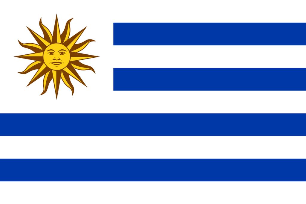 Flaga kraju URUGWAJ [PNG]
