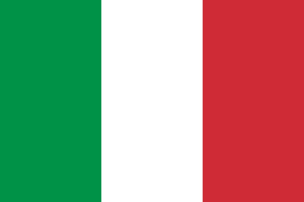 Flaga kraju WŁOCHY [PNG]