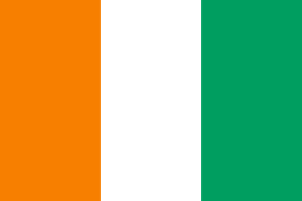 Flaga kraju WYBRZEŻE KOŚCI SŁONIOWEJ [PNG]